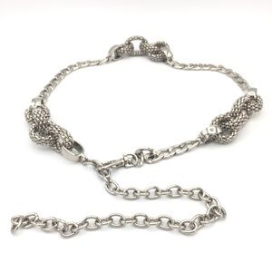Accessories - Trendy Chunky Silver Chain Belt